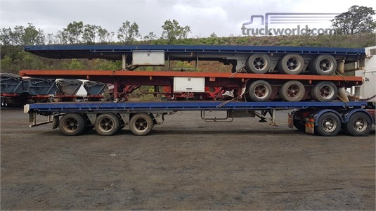 1999 Air Ride Flat Top Trailer Trailers for Sale
