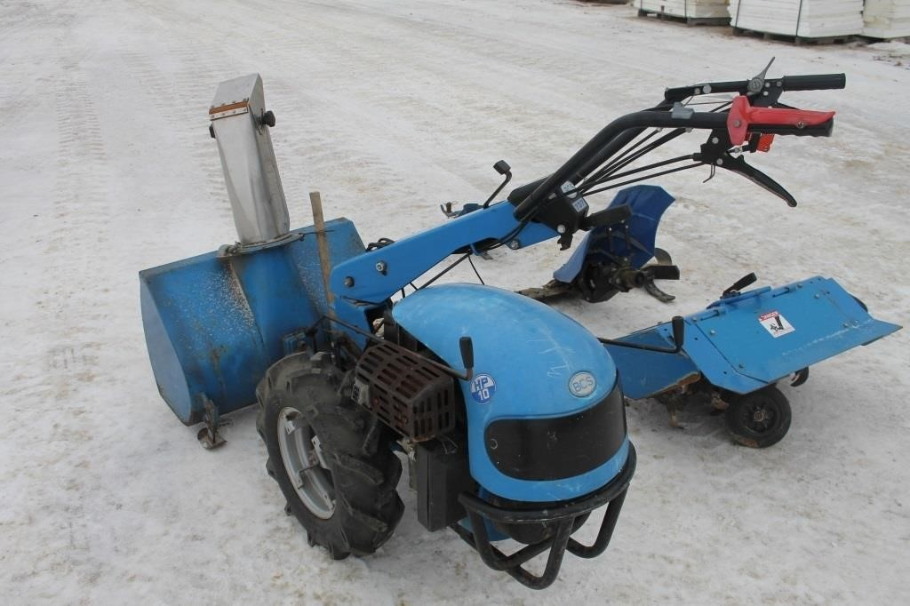 BCS WALK BEHIND TRACTOR WITH (4) ATTACHMENTS | SPENCER SALES