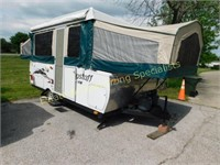 Online Only Flagstaff Camper & Yamaha XVS950 Motorcycle