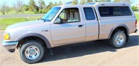1997 Ford Ranger XLT, 4x4, ext cab, camper shell, 4 liter eng, auto trans, 1-owner, approx 180k mi. (view 1)