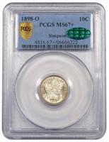 10C 1898-O PCGS MS67+ CAC EX SIMPSON