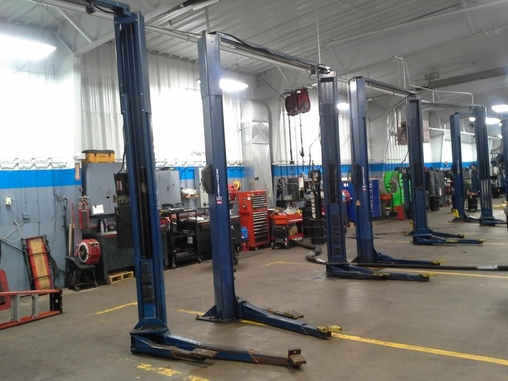 ROTARY 2 POST 9000 LB LIGHT TRUCK AND CAR LIFT | SPENCER SALES