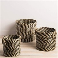 3-PIECE SEAGRASS BASKET SET