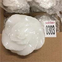 12 PIECES WHITE ROSE FLOATING CANDLE