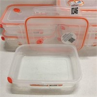 6 PIECES ULTRA SEAL RECTANGULAR CONTAINERS