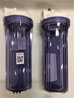"""SET OF 2 HYDRONIX 10"""" CLEAR HOUSING PRESSURE"""