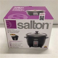 SALTON AUTOMATIC RICE COOKER & STEAMER 6 CUP