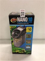 ZOO MED NANO 10 EXTERNAL CANISTER FILTER FRO