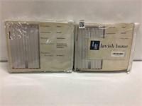 "LAVISH HOME 2 PCS GROMMET PANEL, 54""W x 84""H"