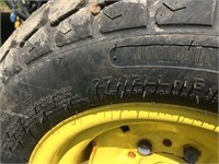 Front & Rear Turf Tractor Tires On John Deere Rims