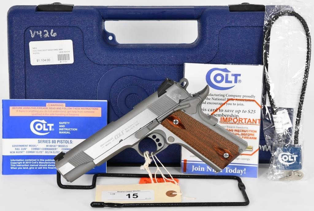 Colt XSE Series 1911 Government Pistol 9MM | HiBid Auctions