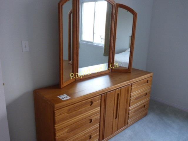 Palliser Dresser With Mirror Night Table David Moore