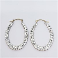 10K Yellow Gold Cubic Zirconia  Earrings (~weight
