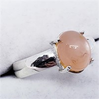 Silver Moonstone  Ring (19 - JT165)   (D2)