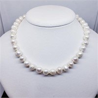 Silver Fresh Water Pearl  Necklace (~weight