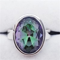 Silver Mystic Topaz  Ring (~weight 7g) (13 -