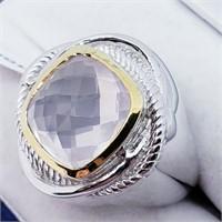 Brass Men'S Rose Quartz(5.9ct)  Ring (15 - JT165)