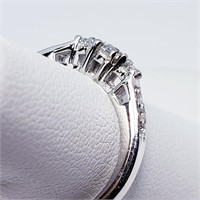 Silver Cubic Zirconia  Ring (49 - JT165)   (D2)