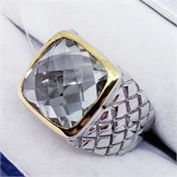 Brass Men'S Green Amethyst(5.8ct)  Ring (33 -