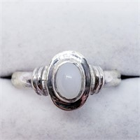 Silver Moonstone  Ring (41 - JT165)   (D2)