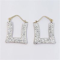 10K Yellow Gold Cubic Zirconia  Earrings (~weight