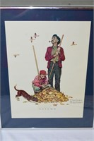 """""""Spring"""" & """"Autumn"""" Prints by Norman Rockwell"""