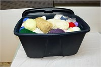Tote of Assorted Yarn