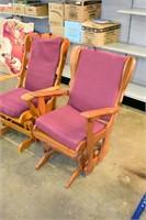 (2) Glider Rocking Chair