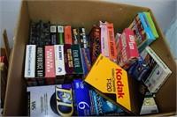 Group of VHS, Vintage Games, etc.