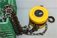 Milk Crate with Winch, 1/2 Ton Chain Fall, etc..