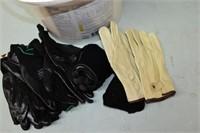 Bucket of Work Gloves