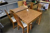 """Table38""""x52"""", Leaf 18"""" with (4) Chairs"""