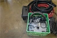 Grouping of Pond Items, UV Light, Pump, Hose