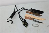 Hyper Dog, Knives & Bracelet Stamped Sterling