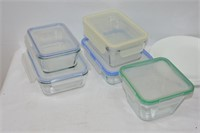 Group of Corelle, Pyrex, Anchor Hocking Dishes