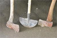 Sledge Hammer, Axes, etc.