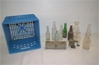 Milk Crate, Vintage Bottles, Sharpener, Gasket
