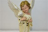 Angel with Lamb Figurine