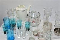 Large Assortment of Glasses, Fire King Measurer