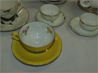(16) Cups and Saucers- Royal Vale, Queen Anne