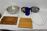 Royal Doulton Platter, Bunt Cake Pan, etc.