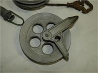 Clothesline Reels, Brass & Rod Tensioner, Vintage