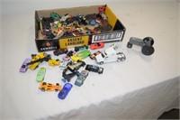 Box of Miniature Cars, Trucks, etc.