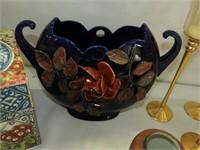 (2) Vases, (5) Stemmed Candle Holders, Box