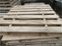 ASSORTED HARDWOOD PALLETS - 5' LONG X 5' WIDE