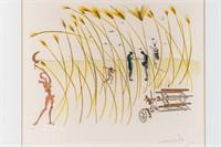 "Art S. Dali Ltd Ed Etching Engraving ""The Reaper"""