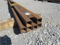 (qty - 9) Steel Square Tubing-