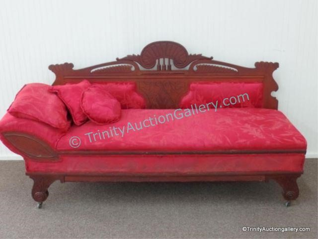 Phenomenal Antique Eastlake Mahogany Fainting Couch Sofa Asset Beatyapartments Chair Design Images Beatyapartmentscom