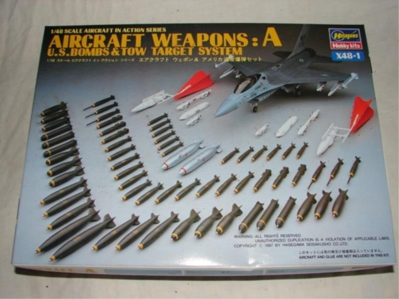Hasegawa Aircraft Weapons: A -US Bombs & TOW | Stouffer's Auction Co