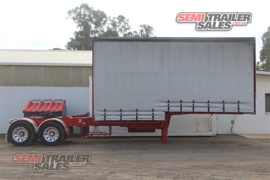 2004 Vawdrey 10 Pallet Curtainsider A Trailer With Mezz Semi Trailer Sales - Trailers for Sale